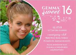 white and pink floral sweet 16th birthday invitation teen