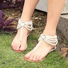wedding shoes sandals handmade bridal shoes comfortable flats sandal swarovski