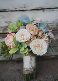 flower arrangements for weddings to make a faux flower bridal bouquet