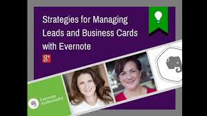 Business Card Evernote Turn Business Cards Into Leads With Evernote Webinar Training Video