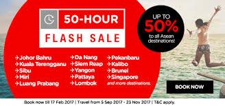 airasia singapore promo 50 off flash sales flights promotion 2017