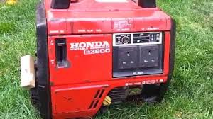 honda ex800 portable generator start up and run youtube