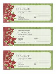holiday gift certificate poinsettia design 3 per page office