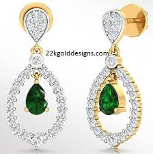diamond earrings with price indian jewellery designs rs 83136 png pear diamond earrings