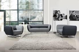 Vietta Modern Grey Tone Fabric Sofa Set - Fabric modern sofa