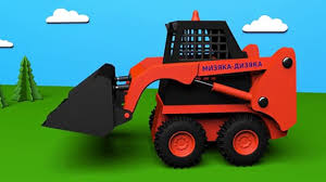 trucks for kids skid loader construction game cartoons about