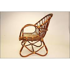 Rattan Accent Chair Vintage Bentwood Bamboo U0026 Rattan Accent Chair Chairish