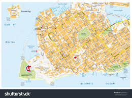 Ft Detrick Map Key West Road Map Road Names Stock Vector 428467027 Shutterstock