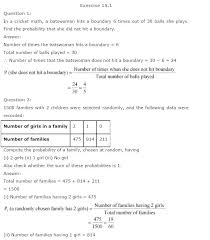 solutions for class 9 maths solutions chapter 15 probability cbse