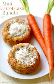 carrot cake mini bundt recipe food baskets recipes