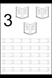 8 best images of free printable number 1 tracing worksheets