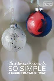 simple pour painted ornaments