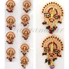 bharatanatyam hair accessories 9 pieces billai braid kemp stones hair temple jewelry