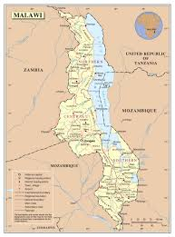 africa map malawi large detailed political and administrative map of malawi with