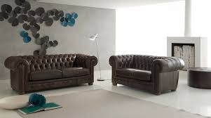 chesterfield canape canapé chesterfield tout en cuir italien