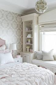 pink and gray room with pink ruched duvet contemporary