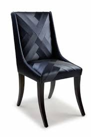 Black And White Striped Dining Chair Black Fabric Dining Chairs Foter
