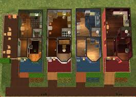 sims 2 floor plans mod the sims bella s belles townhomes with real basements updated