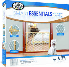 Extra Wide Pressure Fit Safety Gate Four Paws Plastic Mesh Safety Gate Chewy Com