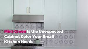 light green painted kitchen cabinets mint green is the cabinet color your small kitchen needs