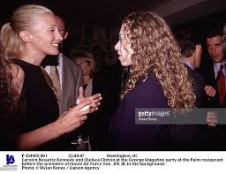 carolyn bessette kennedy carolyn bessette kennedy and chelsea clinton at the george magaz