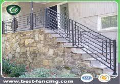 outdoor metal stair railings wrought iron railings home depot