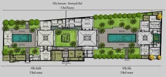 villa floor plan floorplan villa bali samuan
