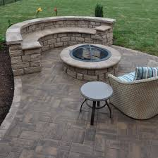 Paver Patios With Fire Pit by Fire Pits American Exteriors U0026 Masonry
