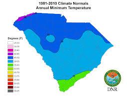 Usa Climate Map by South Carolina State Climatology Office