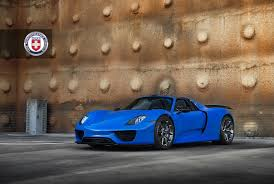 porsche bisimoto voodoo blue porsche 918 spyder brings the magic on custom wheels