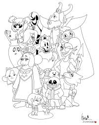 undertale coloring pages printable projects wkd