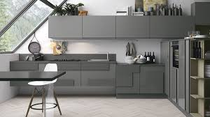 kitchen open plan kitchen features grey cabinet with island