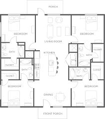 bedroom apartment flat floor plan wildwood lubbock next slide