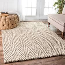 5 X 8 Area Rugs Nuloom Handwoven Jute Jagged Chevron Area Rugs 5 X 8