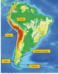Map Of Sounth America 1 map of south america with the biggest lakes of the andean mountain