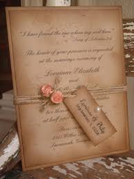 coral rustic vintage woodland kraft wedding invitation shabby