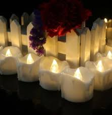 china mini battery operated white led taper candles