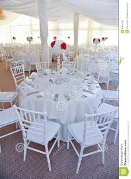 Wedding Table Set Up Tables Set For An Event Party Or Wedding Reception Stock Photo