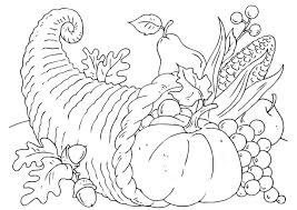 coloring page thanksgiving basket cornucopia img 22904