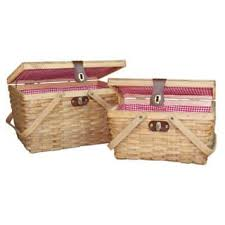 picnic basket set for 2 picnic baskets for less overstock