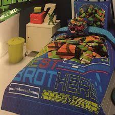 Ninja Turtle Bedding Teenage Mutant Ninja Turtles Dudes Double Duvet Set Quilt Cover