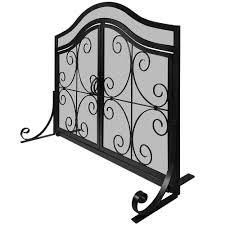 amagabeli flat guard firplace screen with doors outdoor large