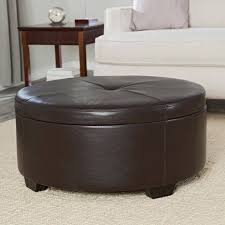 Leather Cowhide Fabric Sofa Brown Leather Ottoman Cowhide Ottoman Ottoman Coffee Table