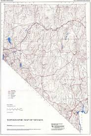 map of nevada topographic map of nevada second edition