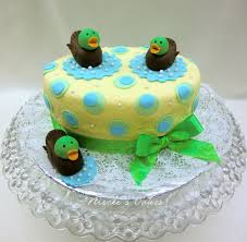 on birthday cakes u0027just ducky u0027 a baby shower cake