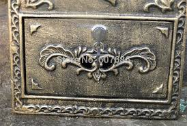 Rustic Iron Mail Slot Outdoor - aluminum flower mailbox embossed trim bronze decorative metal