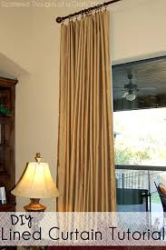 How To Make Basic Curtains Family Room Window Treatments With A Lined Curtain Panel Tutorial