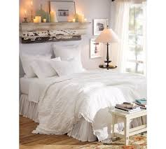 ruched voile duvet cover u0026 sham pottery barn