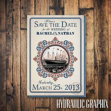 nautical save the date cruise ship save the date for wedding boat save the date