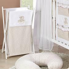 panier a linge chambre bebe panier à linge chambre bébé décoratif taupe vichy ours nuage